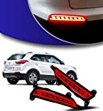 Allied Auto Products Set of 2 Pieces Rear Bumper Led Reflector Drl for Hyundai Creta
