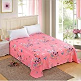 IDS Home Thickened Plant Cashmere Cotton Bedding Fitted Sheet Bedspread (Butterfly Dance) 200230CM