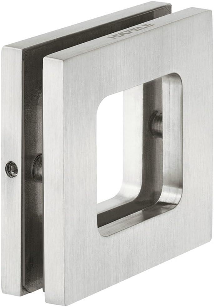 GedoTec® H8505 - Tirador para muebles (acero inoxidable, mate, para atornillar, para puertas de cristal, 70 x 70 x 10 mm): Amazon.es: Bricolaje y herramientas
