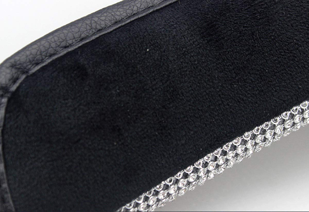 U/&M Bling Bling Auto Handbrake Cover /& Shift Gear Cover Set Luster Crystal Car Decor Accessories,Set of 2 pcs