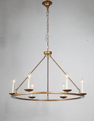 DST Round Bronze Simple Elegant Chandelier Ceiling Light Fixture for ...