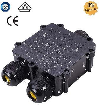 5x cable outdoor conector cable de alimentación de distribución lata abzweigdose impermeable ip68