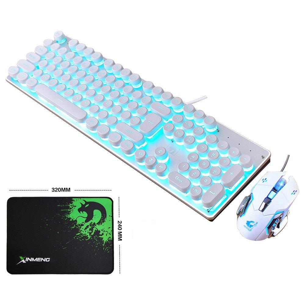 Amazon.com: LexonElec Keyboard Mouse Combo Gamer K100 Wired Blue LED ...