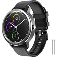 ANCOOL Compatible with Garmin Vivoactive 3 Bands,20mm Soft Silicone Band Quick Release Replacement Strap Wristband for Garmin Vivoactive 3/Forerunner 645/Samsung Galaxy 42mm Smart Watch(Small,Black)