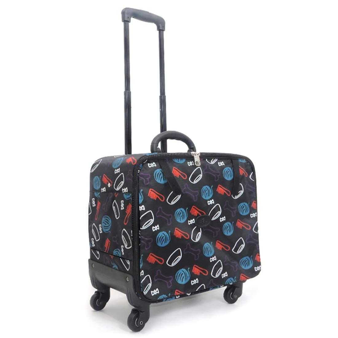 2 Pet Rolling Carrier Fashion Portable Cat Dog Bag Suitable for 7.5KG Pets