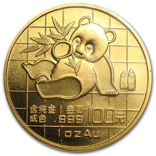 - 1989 CN China 1 oz Gold Panda Small Date BU (Sealed) 1 OZ Brilliant Uncirculated