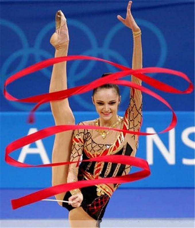 TININNA 4 Mètres Gym Danse Ruban De Gymnastique Rythmique Streamer Rod Baton  Twirling Bleu  Amazon.fr  Vêtements et accessoires 222d336f337