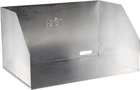 HPV – Cocina de gas protector de viento, aluminio, plata, 65 x 39 x 30 cm