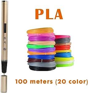 JFCUICAN Impresora 3D Impresora 3D Pen Pen Garabato OLED PLA ABS ...