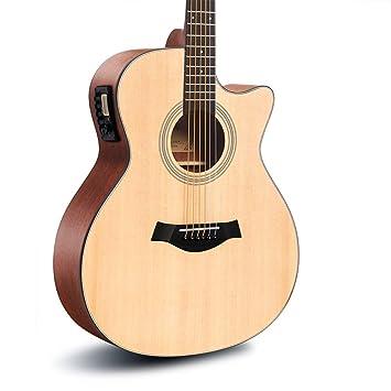 Guitarra HuAma Instrumento Musical Acústica De La Chapa Eléctrica De ...