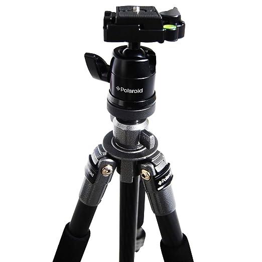Polaroid 165 cm fibra de carbono trípode con cabezal y zapata rápida desmontable para la Pentax Q, Q10, X de 5, K-01, K-30, K-X, K-7, K-5, K-5 II, K-R, ...