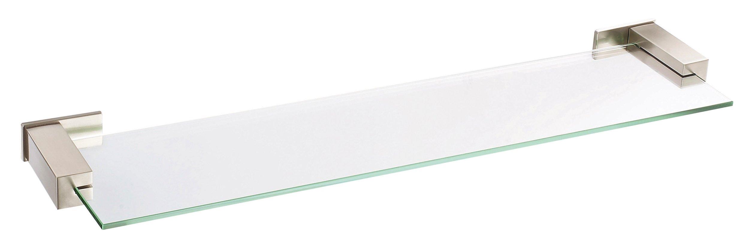 Danze D446135BN Sirius Glass Shelf, 24-Inch, Brushed Nickel