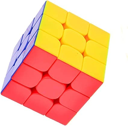 Ridhin's 3x3 High Stability Stickerless Rubiks Magic Smooth Speed Rubix Cube 3D-Puzzle Cube