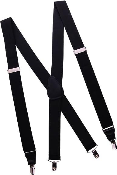 Heavy Duty Blue Nylon Suspenders Scissor Trigger Snaps USA Made