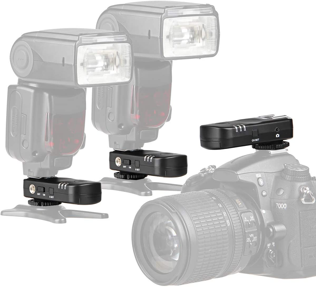 Blitz /& Kameraausl/öser Set mit 3 Transceivern AX-BA1 ayex Funk Blitzausl/öser und Kamera-Fernausl/öser f/ür Nikon Kameras