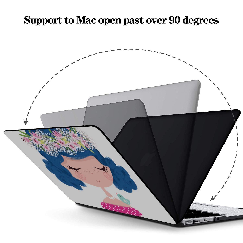 15 Inch MacBook Case Cartoon Little Girls Pretty Fashion Plastic Hard Shell Compatible Mac Air 11 Pro 13 15 MacBook Air Case Protection for MacBook 2016-2019 Version