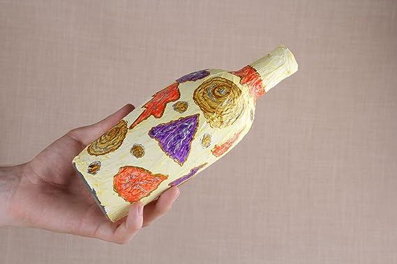 Botella de cristal decorada: Amazon.es: Hogar