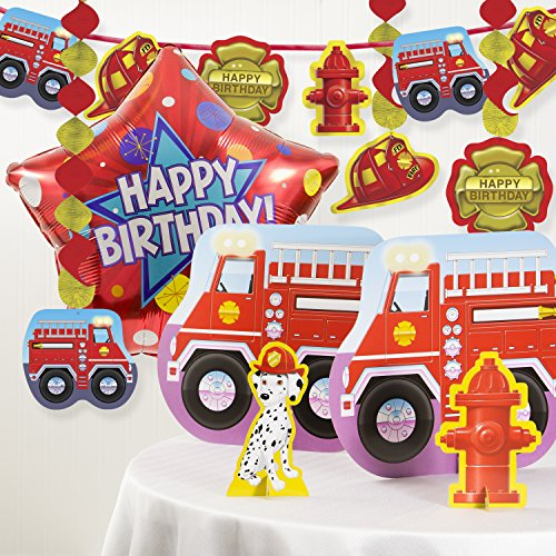 Firefighter Birthday Party Decorations Kit (Firefighter Decorations Party)