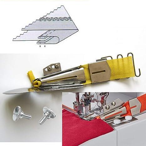 1-7//8 # KP-104 CoverStitch Machine Binder 47.63mm Double-Fold Binding Attahchment for Flatbed Machine Cut;5//8 Finish 15.88mm
