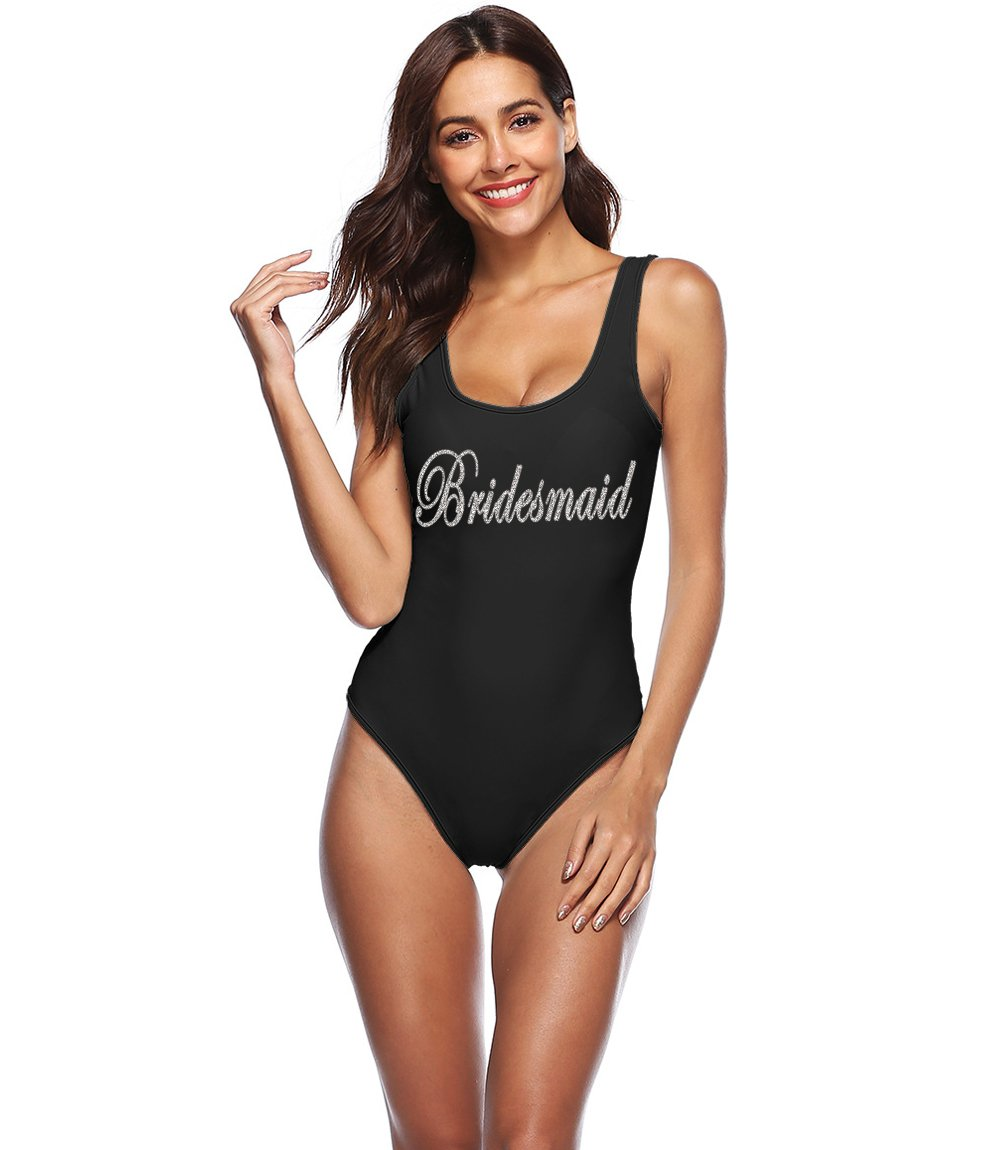 PROGULOVER Women's Swimsuit Bride Tribe Bathing Suits Honeymoon Swimwear Bride Wedding Party Bridesmaid Gift