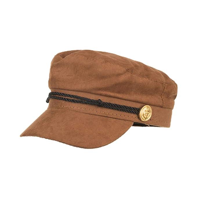 40c8c4f54d4 Women Baker Boy Cap Brown Ladies Military Hat British Style Painter ...
