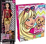 Fashion Snacks Assorted Fruit Flavor Pouches + Bonus Fashionista Barbie Girl Doll
