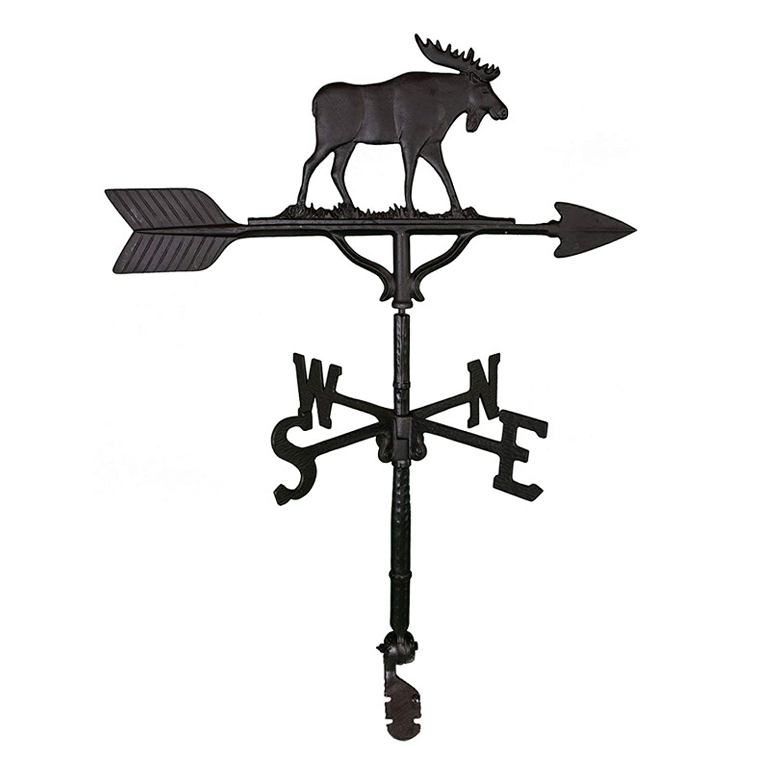 Montague Metal Products 32-Inch Weathervane with Satin Black Moose Ornament WV-246-SB