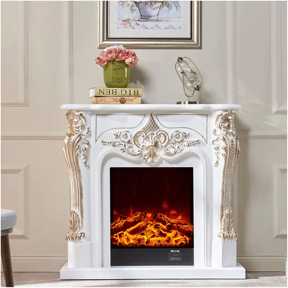 Free Standing Electric Fireplace With Mantel And Remote Traditional Corner Fireplace Heater Living Room Bedroom Furniture Adjustable Heat And Flame Size B Amazon Co Uk Kitchen Home