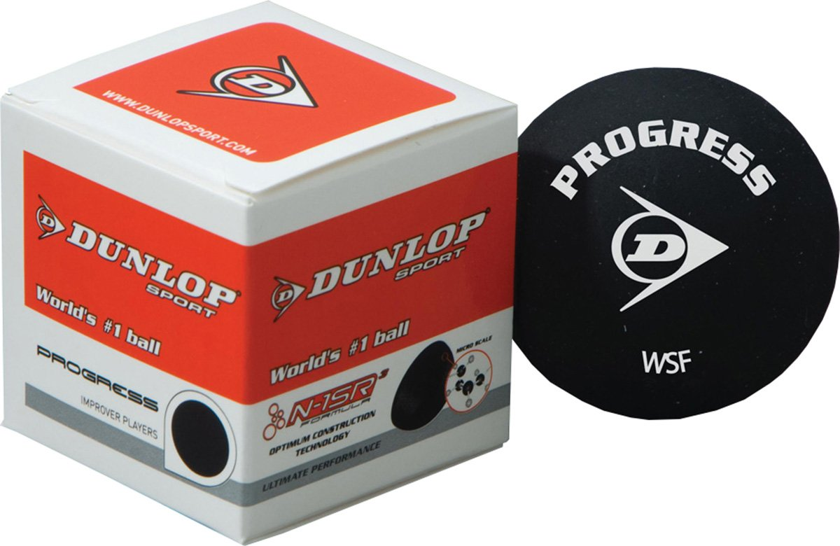 DUNLOP Progress Improver Players Ultimate Performance Squash Ball Pack of 12
