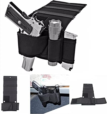 Concealed Under Car Seat Pistol Holster Wall Mount Bedroom Closet Gun Holster
