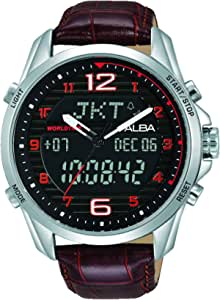 Alba Watch For Men - Casual Watch / Multi Color , Leather - Az4033X1