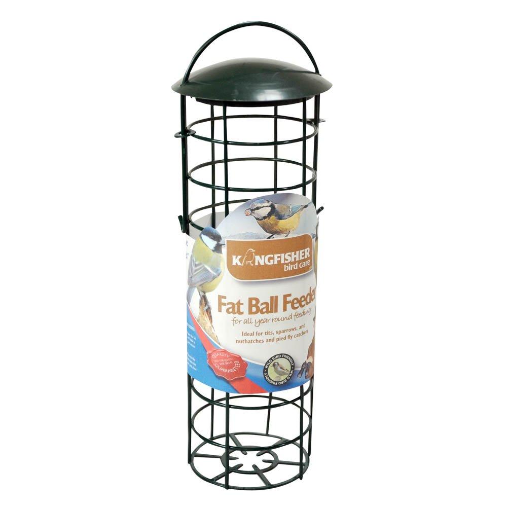 Kingfisher Green Standard Suet Fat Ball Bird Feeder King Fisher BF029