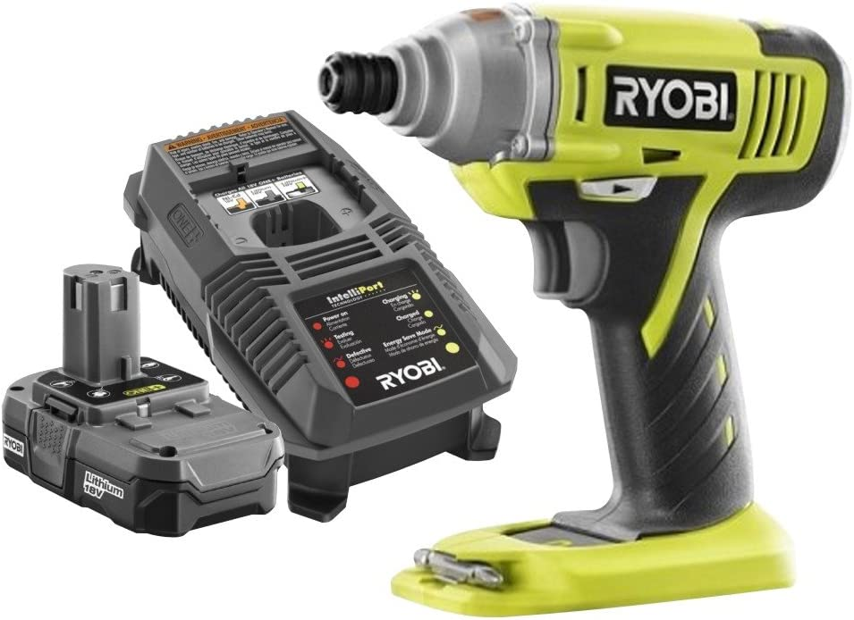 Ryobi ZRP1870 ONE 18-Volt Lithium-Ion 1 4 in. Cordless Impact Driver Kit Renewed