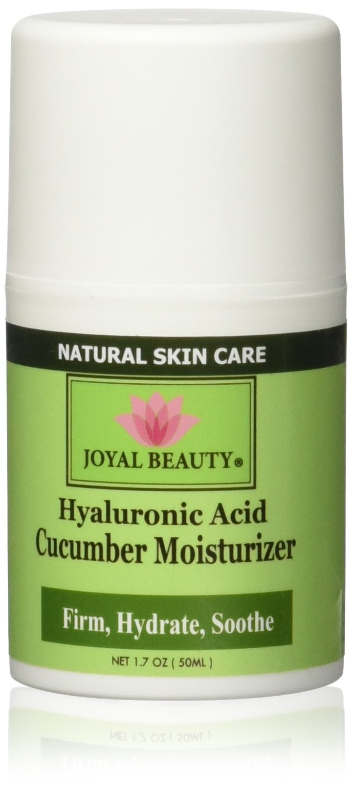 JJoyal Beauty Best Hyaluronic Acid Moisturizer for Skin Face Eyes. Natural Organic Anti Aging Firming Face Cream with Fresh Cooling Soothing Cucumber Extract for Men and Women
