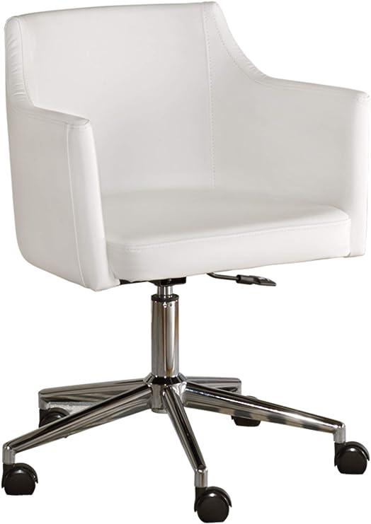 Amazon Com Signature Design By Ashley Baraga Home Office Swivel Desk Chair White Furniture Decor