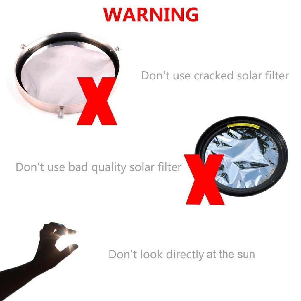 - 81-113mm Adjustable Aluminum Baader Solar Filter Membrane 5 0 Lens Cap Planetarium Solar Safety Film Silver Gosky Adjustable Solar Filter