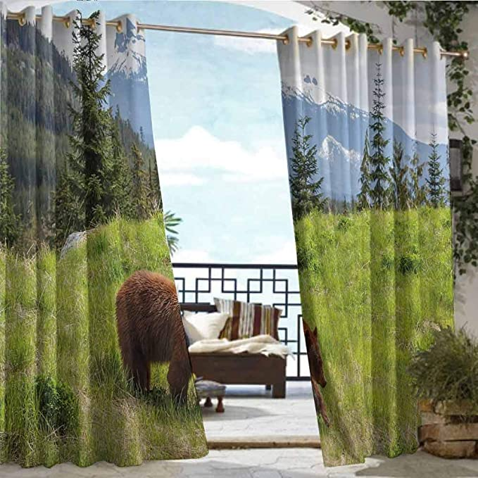 Cortina de privacidad para exteriores con diseño de oso pérgola ...