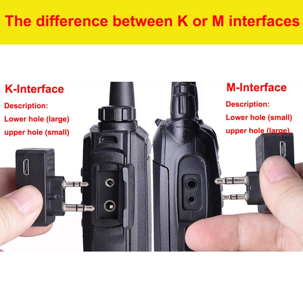 lorjoy Walkie Talkie Wireless Headset Bluetooth Headsets Two Way Radio Headphone Earpiece Replacement for Baofeng 888S UV5R