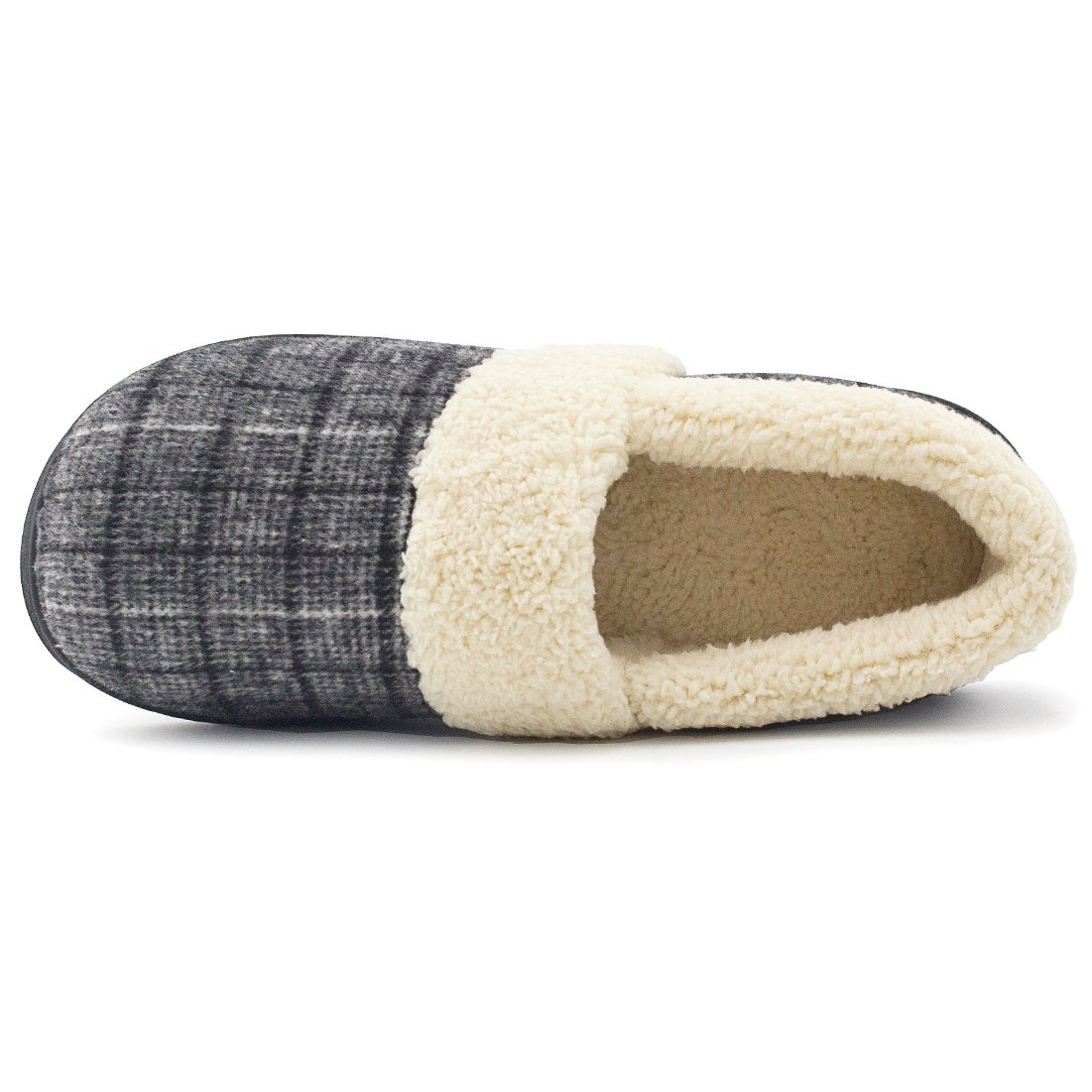 f047869ca Amazon.com | HomeIdeas Women's Woolen Fabric Plaid House Slippers,  Anti-Slip Breathable Indoor/Outdoor Shoes | Slippers