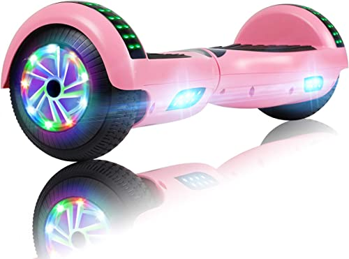 UNI-SUN 6.5 Bluetooth Hoverboard for Kids, Self Balancing Hoverboard with Bluetooth and LED Lights for Adults, UL 2272 Certified Hover Board, Pink Hoverboard