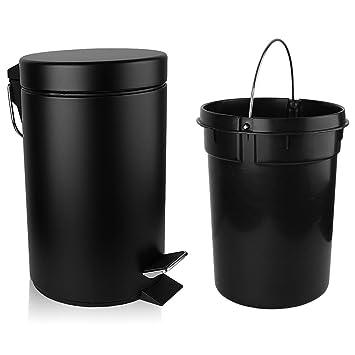 Amazon.com: H+LUX - Cesta de basura con tapa, tamaño pequeño ...