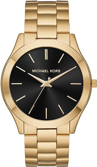 Michael Kors Men's Slim Runway Quartz Watch with Stainless Steel Strap