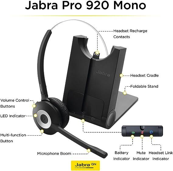 Amazon Com Jabra Pro 920 Mono Entry Level Wireless Headset