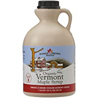 Hidden Springs Maple Organic Vermont Maple Syrup, Grade A Dark Robust (Formerly...