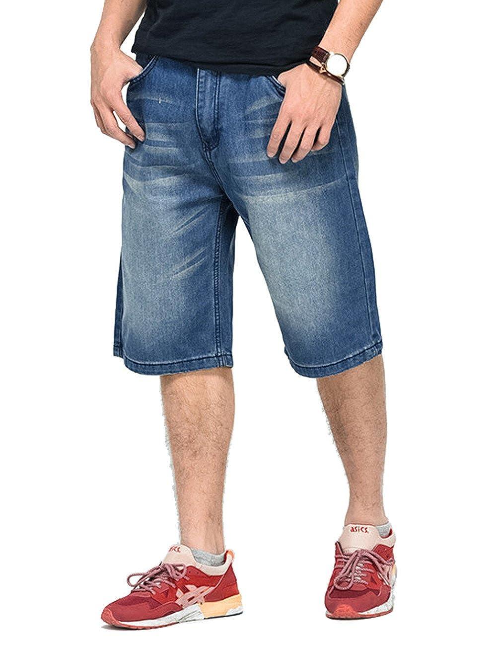 QBO Mens Twill Denim Casual Shorts Jeans