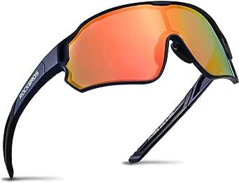 ROCKBROS Fietsbril Gepolariseerde Sportbril HD Kleurrijke Zonnebril met UV-bescherming Winddichte Fietsbril voor Fietsen Hardlopen Vissen Golf Wandelen Heren Dames