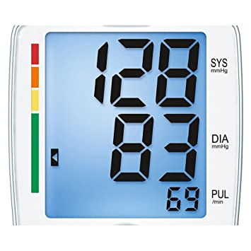 Amazon.com: Beurer One Touch Digital Blood Pressure Monitor, With WHO Classification, BM44: Health & Personal Care