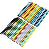 "ATPWONZ 0.28x4"" Multicolored Hot Glue Gun Sticks, 30pcs Glitter Glue Sticks & 30pcs Colorful Glue Sticks Mini for DIY Art Craft"