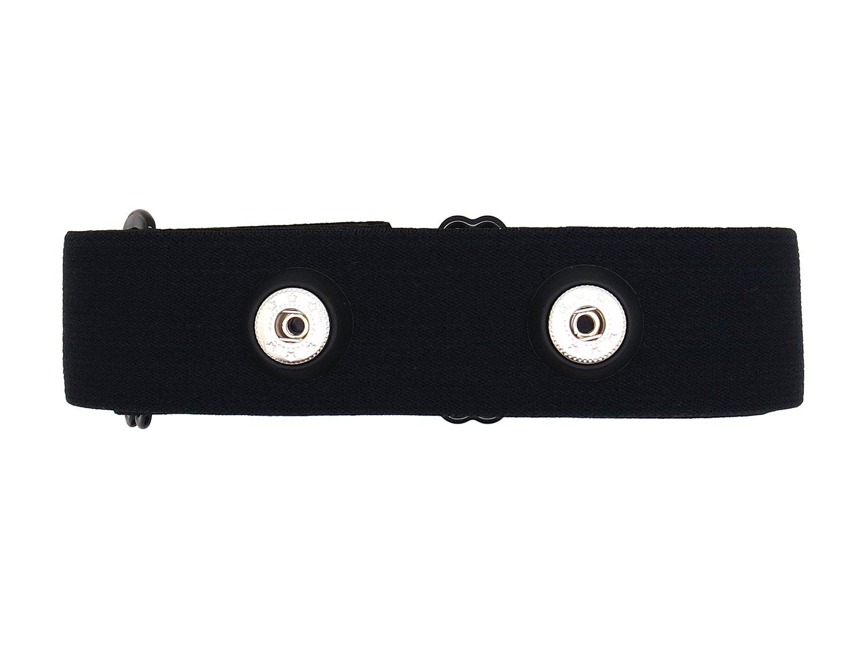 Bestart Universal Replacement Heart Rate Monitor Soft Strap for Garmin Polar Wahoo (Black)