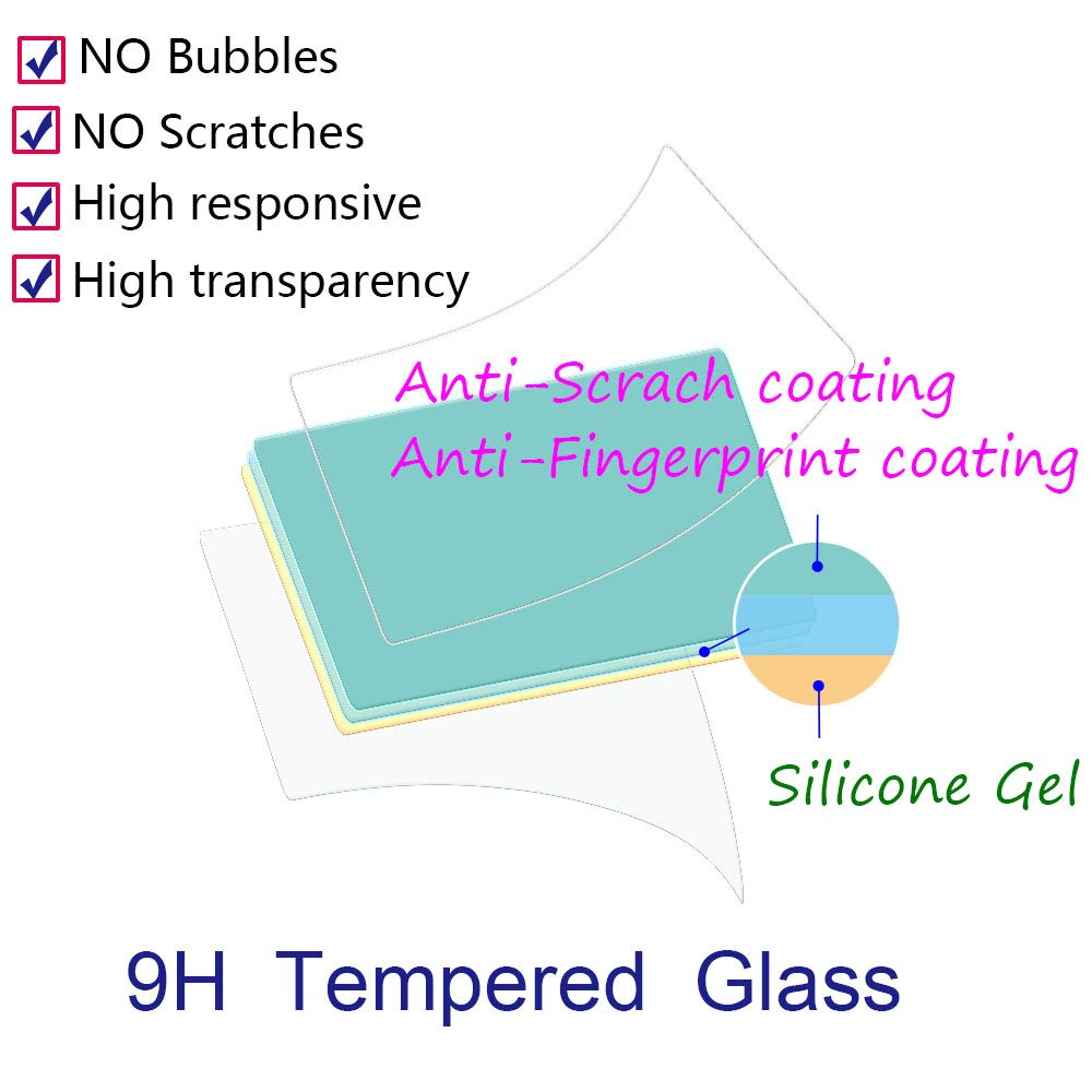 Anti-scrach Anti-Fingerprint Anti-Dust BTER Reble T7i Screen Protector for Canon EOS Reble T7i//800D Digital Camera,9H Hardness Ultra-Clear Tempered Glass Screen Protector 3 Pack